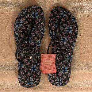 Black Havaianas Flip Flops